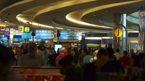 People in airport Stock Video Footage