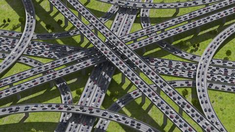 Highway junction Stock Video Footage