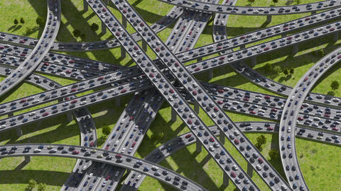 Highway junction Animation