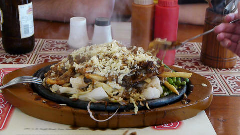 Sizzler, tradition indian meal Stock Video Footage