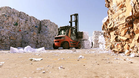Recycling Paper center environment Ecologic waste garbage... Stock Video Footage