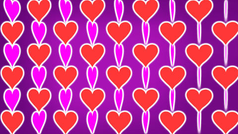 Loopable Rotating Hearts Animation Stock Video Footage