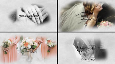 Wedding Slideshow stock footage