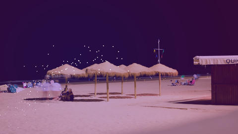 Beach In Spain stock footage