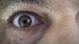 Old man eyes inspecting macro Footage