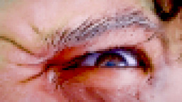 Old man zombie eye scary pixelated Footage