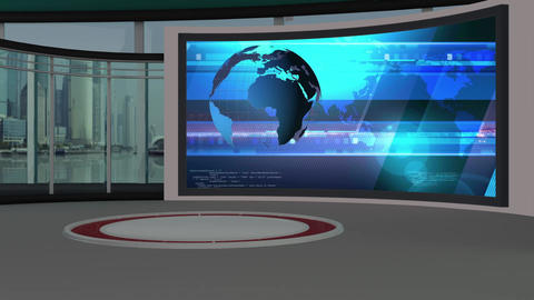 News TV Studio Set 79 - Virtual Background Loop Footage