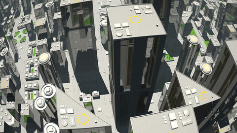 Futuristic City Flight Animation