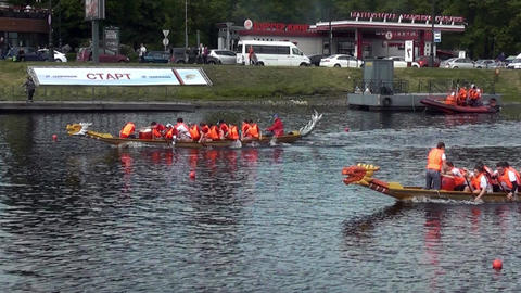 Kids boat competition Footage