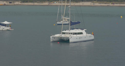 4K, Boats In Calvi Harbor, Corsica stock footage