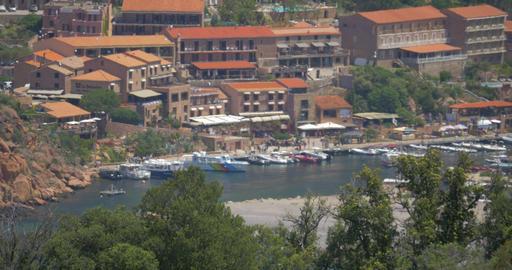 4K, View on Porto, Corsica, Tele CloseUp Filmmaterial