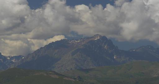 4K, Pan along mountains, Urtaca, Corsica Footage