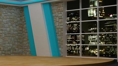 News TV Studio Set 82 - Virtual Background Loop Footage