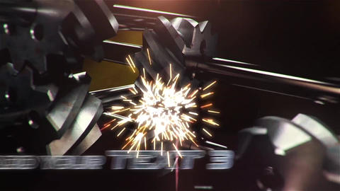 Cinematic Gears Wheel Rotating Opener After Effects Template