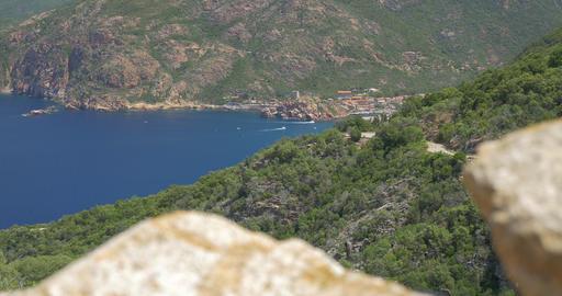 4K, View on Porto, Corsica Filmmaterial