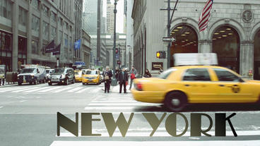 Shooting of New York in the spring After Effects Project