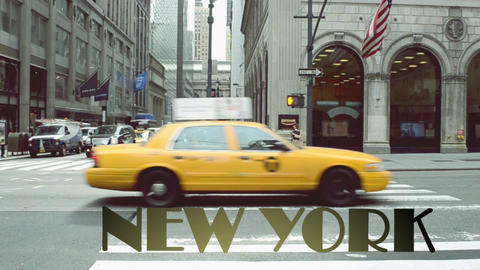 Shooting of New York in the spring After Effects Template