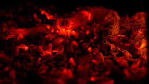 Glowing Embers stock footage