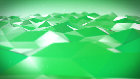 Live Pulsing Low Poly Environment Green 4K Animation