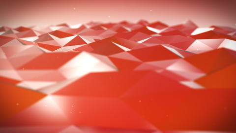 Live Pulsing Low Poly Environment Red 4K Animation