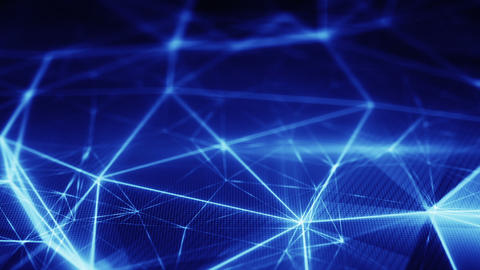 blue glow web shallow DOF seamless loop Animation