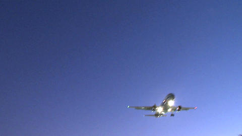 Passenger jet on final approach (1 of 4) Live Action