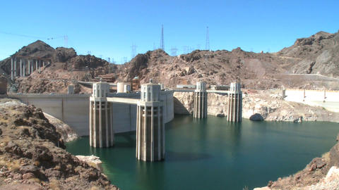 A beautiful day at Hoover Dam Footage