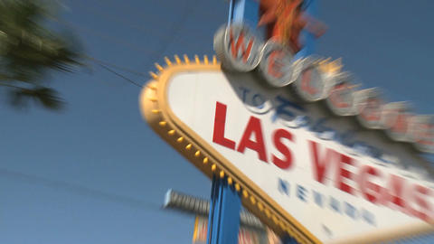 Welcome to Las Vegas sign - fast zooms Footage