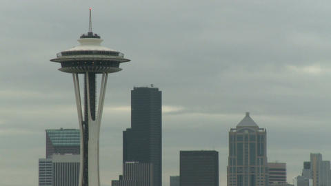 Seattle's Space Needle early morning (1 of 2) Footage