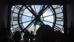 Clock of Musee Orsay in Paris, France Footage