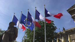 Flags Of France stock footage