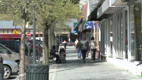 Walk down a village street (5 of 6) Footage