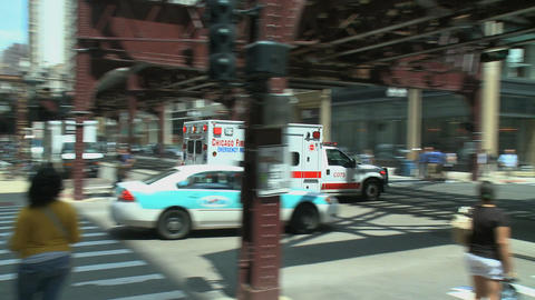 Ambulance rushes to emergency Footage