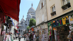 Pictorial street at the Montmartre Footage