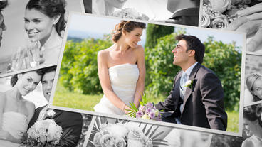Wedding Photo Album stock footage