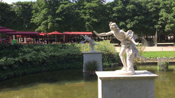 Statue in the Tuilerie gardens Paris Footage