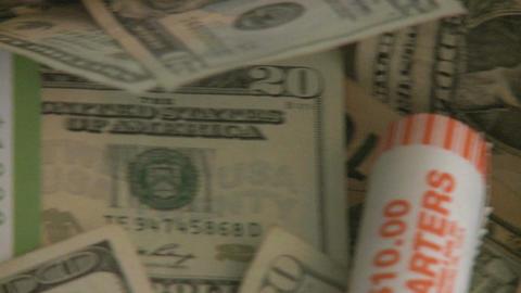 Pile of cash - pan (4 of 7) Footage