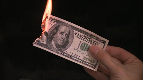 Burning money (6 of 6) Footage