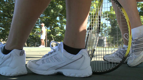 Low angle view of tennis 이미지