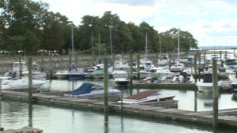 Boats Anchored at the Marina (2 of 7) Footage