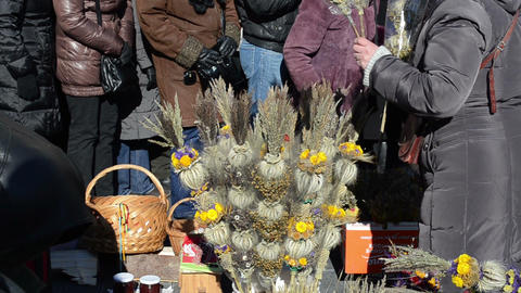 palm natural object tradition spring event market fair... Stock Video Footage