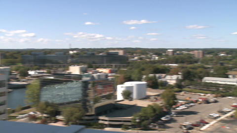 Aerial View of City of Stamford (3 of 9) Stock Video Footage