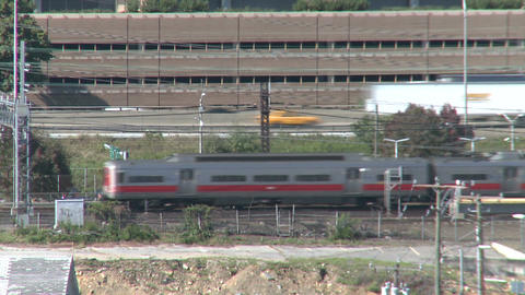 Steady shot of traffic near train station (3 of 4) Stock Video Footage