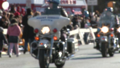 Police motorcade during a fall parade (8 of 8) Stock Video Footage
