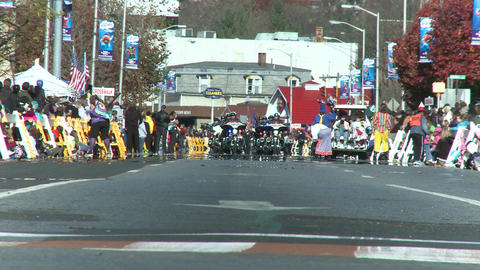 Police motorcade during a fall parade (7 of 8) Stock Video Footage