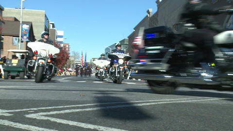 Police motorcade during a fall parade (2 of 8) Footage