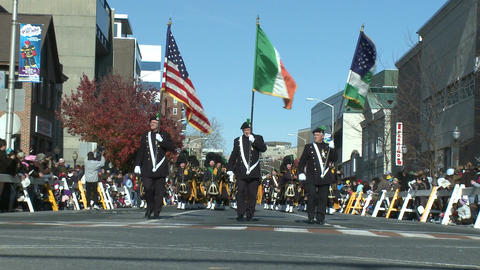A fall parade begins Stock Video Footage