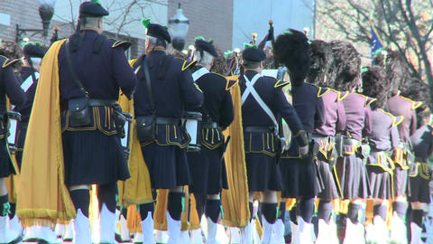 Scottish marching band (4 of 4) Stock Video Footage