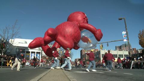 Elmo balloon at parade (2 of 3) Footage