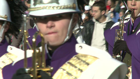 Marching band on the move (3 of 3) Stock Video Footage